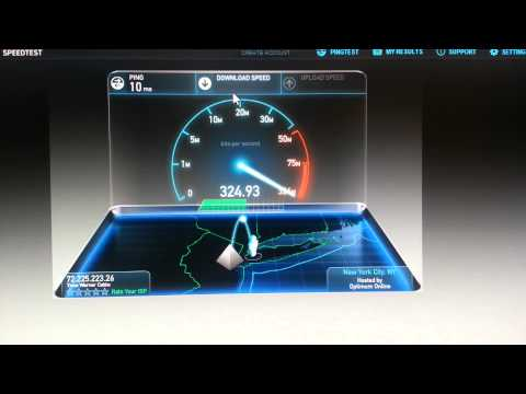 Time Warner Cable Maxx Ultimate 300 mbit Speedtest TWC