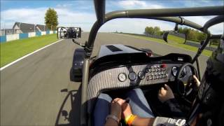 caterham 620r passenger ride at donington park