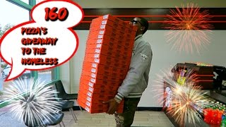 TRY TO WATCH THIS WITHOUT CRYING - 160 Pizza's giveaway to the homeless  (99% Of You Will Cry)