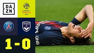 Kurios! Edinson Cavani verletzt sich bei Goldtor: PSG - Bordeaux 1:0 | Ligue 1 | DAZN Highlights