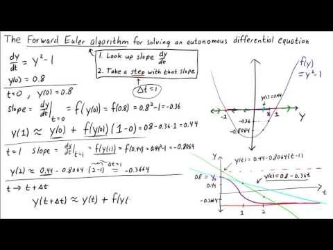 The Forward Euler algorithm for solving an autonomous differential equation