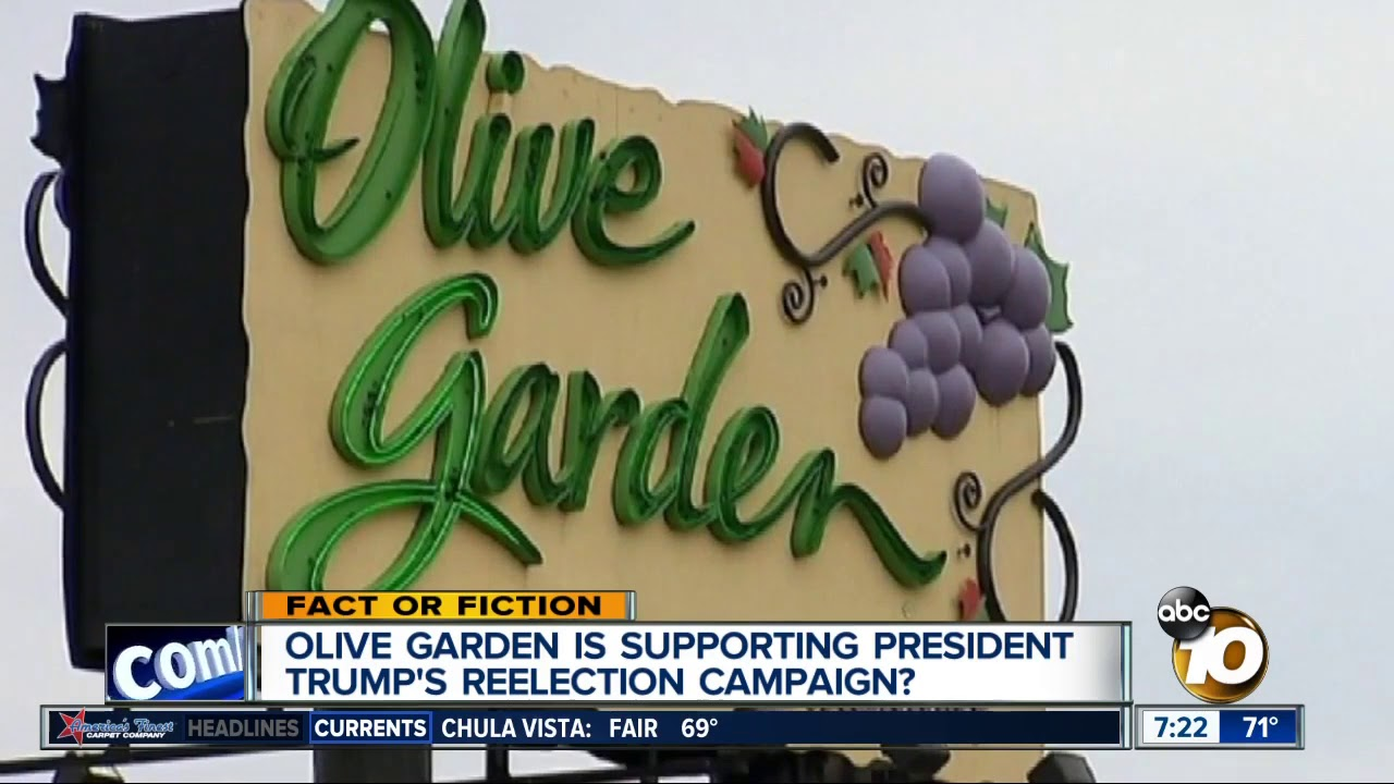 Olive Garden Supporting Trump S Re Election Campaign Youtube