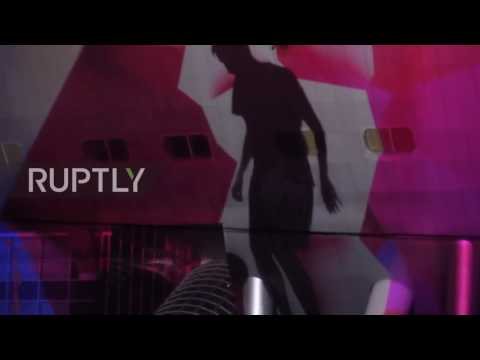 Russia: Locals revel in light show at St. Petersburg Arena ahead of 2018 World Cup