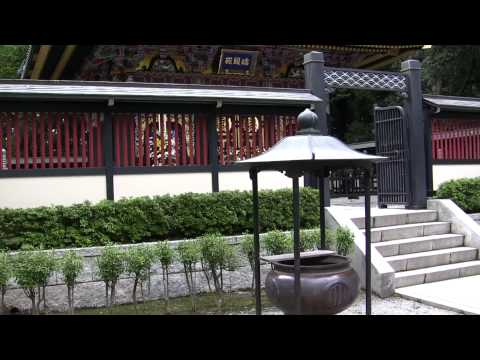 Looking at the actual tomb of Date Masamune