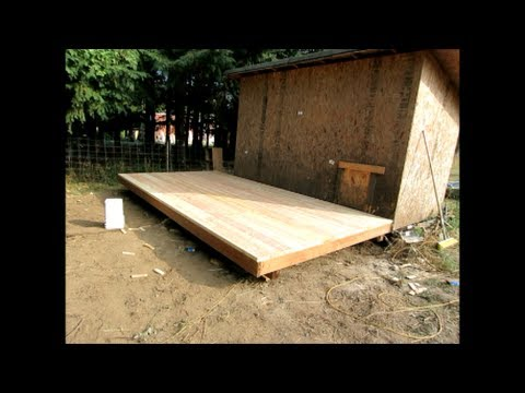 How to build an 8 39 x 16 39 wood deck or floor for an outdoor for How to build a floor for a house