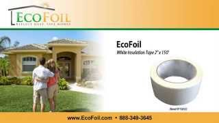 "EcoFoil White Poly Insulation Tape - 2"" x 150' Thumbnail"