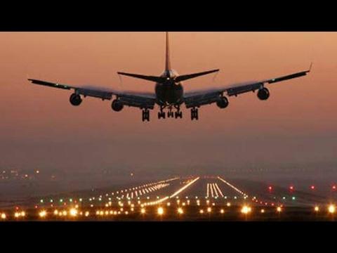 Plane landing in Multan,Pakistan!