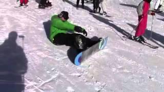 Как одевать сноуборд на склоне Урок для чайников