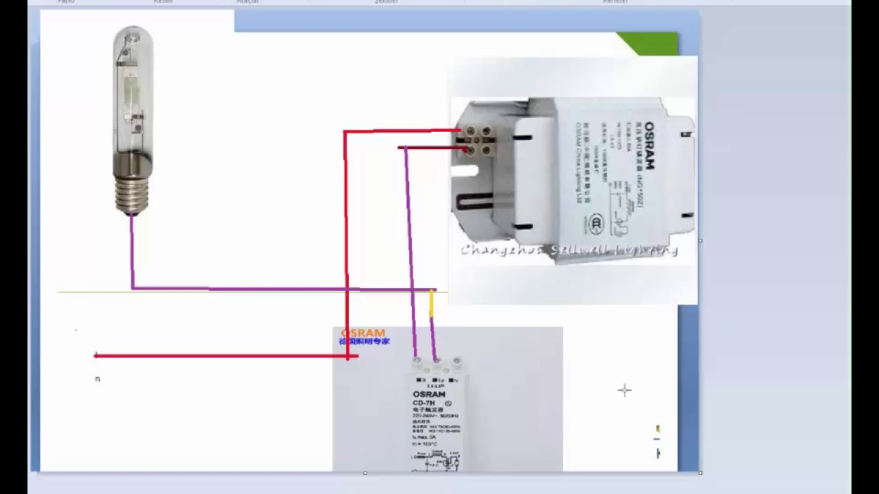 maxresdefault metal halide baglant�s� nas�l yap�l�r youtube philips sn58 ignitor wiring diagram at bakdesigns.co