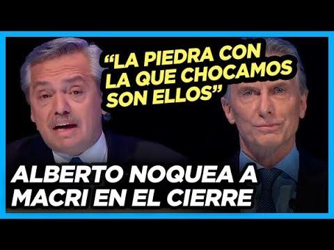 El golpe de gracia de Alberto a macri en el cierre del Debate Presidencial