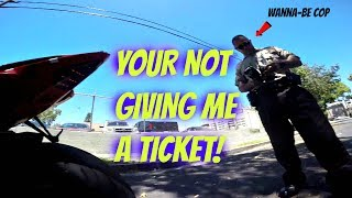 Parking Cop tries to give me a ticket for no reason