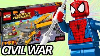LEGO CAPTAIN AMERICA: CIVIL WAR Spider-Man Tanker Truck Takedown (76067) Set Pictures レゴアベンジャーズ