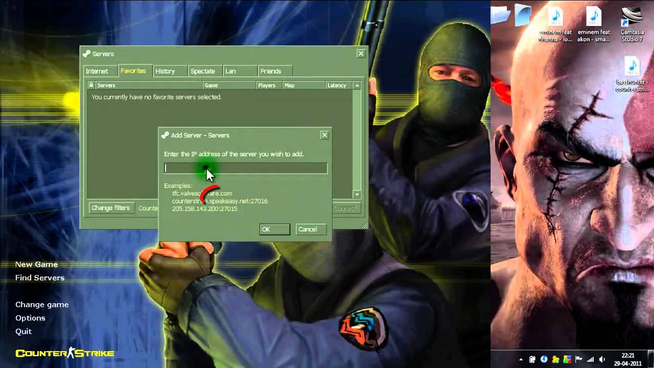 Como jugar online en counter strike 1.6 ...