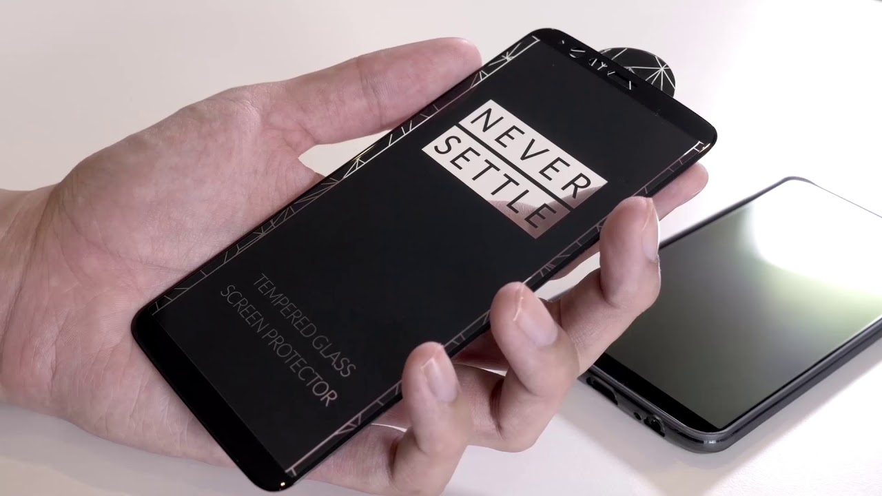 c73e7fd22637fd OnePlus 5T - How to install your Screen Protector - YouTube