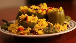 Stuffed Bell Peppers With An Eastern Twist