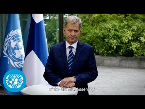 President Niinistö addresses UN General Assembly's 75th session