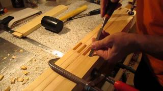 Отверстие под шип стамеской (видеоответ)