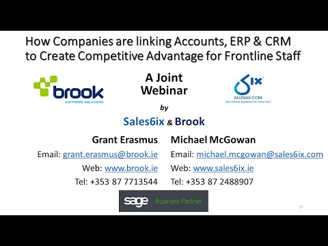 Linking Accounts, ERP and CRM to Create Competitive Advantage