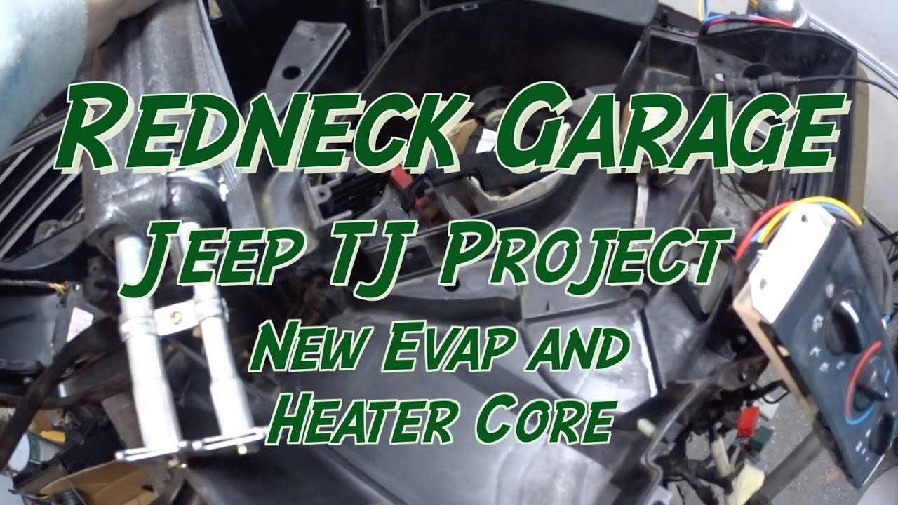 hight resolution of jeep tj project heaterbox heater core evaporator replacement