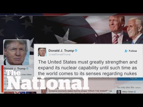 Trump calls for nuclear weapons increase
