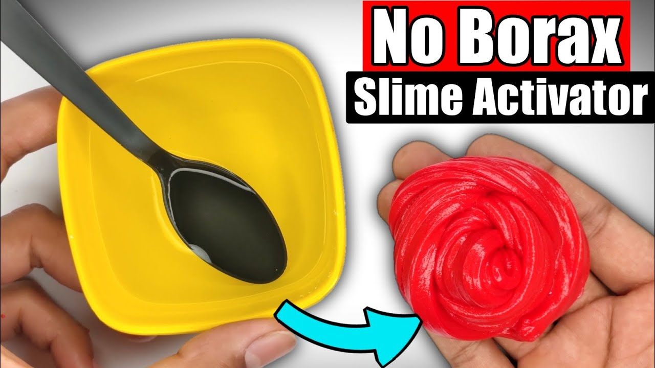 NO BORAX SLIME ACTIVATOR👅🎧 How to make Slime Activator without Borax!