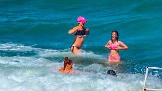 Как ВОЛНЫ сбивают ДЕВЧОНОК с НОГ на БАЛИ! Пляж DreamLand! РЫБНЫЙ рынок ДЖИМБАРАН - РАЙ ЕДЫ на BALI