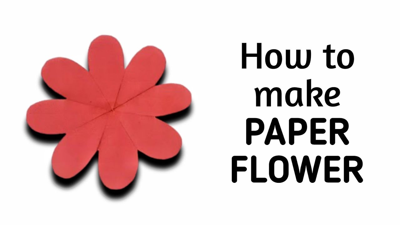 How to make simple easy paper flower 1 kirigami paper how to make simple easy paper flower 1 kirigami paper cutting craft videos tutorials youtube mightylinksfo Images