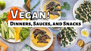 Plant Based Vegan Dinner Recipes, Sauces, Snacks, and Wines