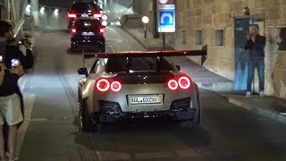 1300HP BRILL STEEL Nissan GT-R DRIVING ON THE STREET!