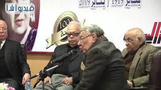 بالفيديو : وزير الثقافة السابق يرفع الستار عن تمثال للفنان إحسان عبد القدوس