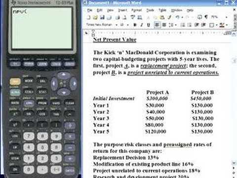 TI-83 and TI-84 Capital Budgeting Three -- NPV | Doovi