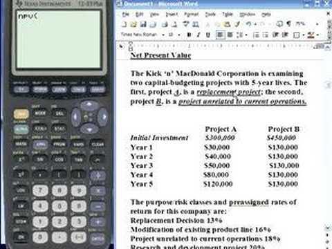 TI-83 Finance calculator instructions - YouTube