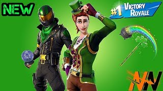 * NEW* LUCKY RIDER & SGT. GREEN CLOVER SKINS !!! + PLAYING WITH SUBS | Fortnite Battle Royale
