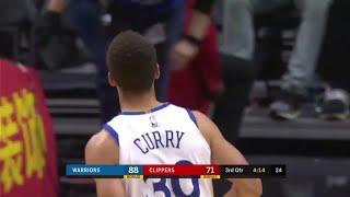 Stephen Curry'den sadece 30 dakikada 8 üçlük, 45 sayı