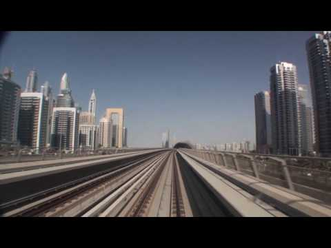 Dubai Metro Timelapse - Red Line