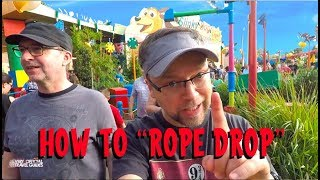 """Disneyworld Hacks - """"Rope Dropping"""" Toy Story Land at Hollywood Studios"""
