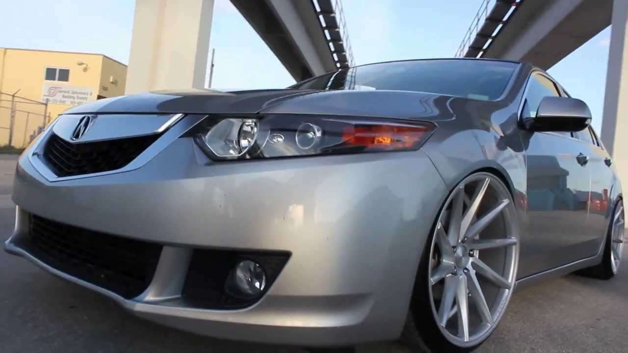 Team BeStanced Slammed Acura TSX On Vossen CVTs YouTube - Rims for acura tsx