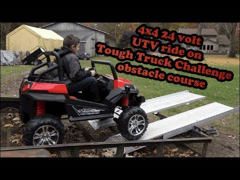 Custom 4x4 24 Volt Ride On Tough Truck Obstacle Co Challenge