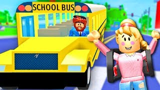 BACK TO SCHOOL IN ROBLOX! Roblox Rocitizens School Bus | Roblox Funny Moments