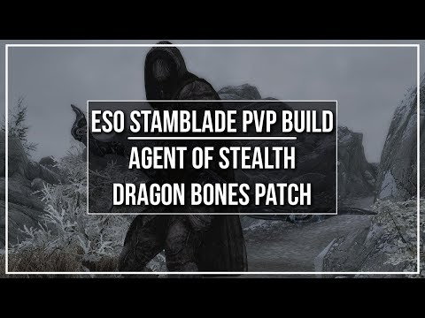 ESO Stamina Nightblade PvP Build - Agent of Stealth - Dragon Bones