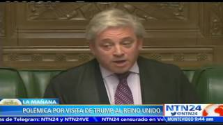 Polémica en Reino Unido por invitación a Donald Trump al parlamento británico