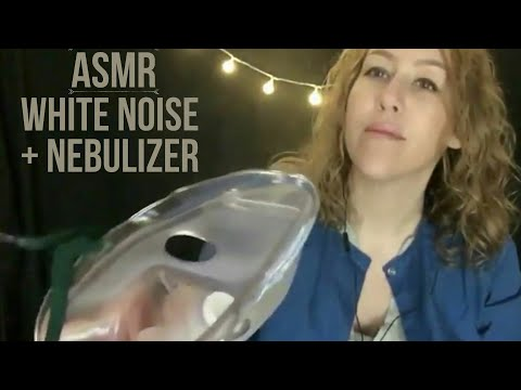 ASMR medical• white noise + whisper • aerosol nebulizer mask breathing treatment