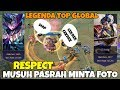 PEMAIN LEGENDA TOP 1 GLOBAL MIYA & ZILONG (Skywee Ft Kyz), Musuh Sampe RESPECT, MINTA FOTO BARENG
