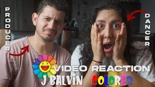 J Balvin Colores (Amarillo, Blanco, Morado, Rojo) Dancer & Producer Reaction to Official Videos