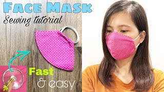Fast Easy Face Mask Sewing Tutorial How to make a face mask at home DIY cloth face mask
