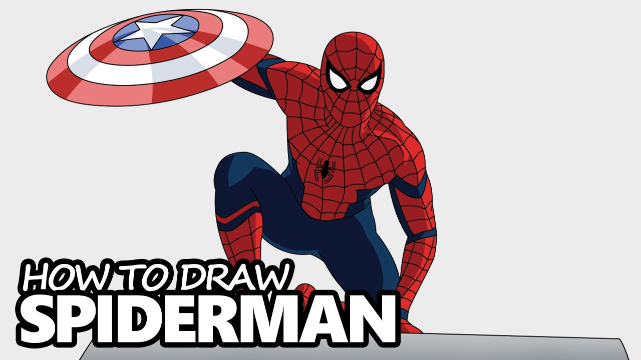 How to draw spiderman from captain america civil war step by step video lesson youtube