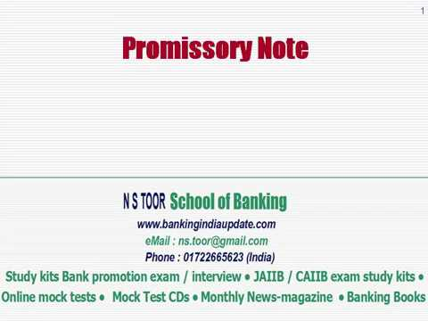 Promissory note And Bill Of Exchange