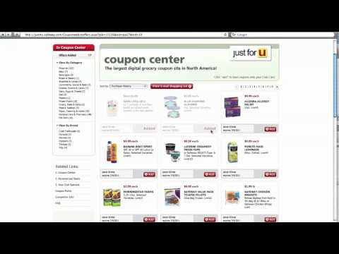 How to load e-coupons to your Safeway Club Card