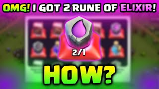 OMG 😲 I GOT 2 RUNE OF ELIXIR AND USED MY FIRST RUNE OF ELIXIR IN CLASH OF CLANS