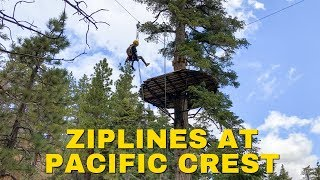 Canopy Zipline Tour in Wrightwood with Ziplines at Pacific Crest